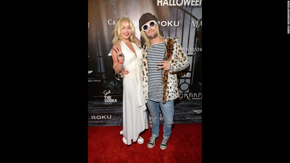 """Dancing With the Stars' "" Mark Ballas and girlfriend BC Jean brought some grungy glamor to the Maxim party as Kurt Cobain and Courtney Love."