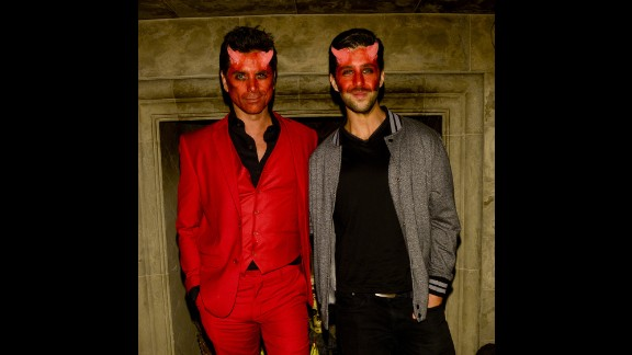Devilish duo John Stamos and Josh Peck attend Carlton's Halloween Nightmare! on October 24 in Beverly Hills.