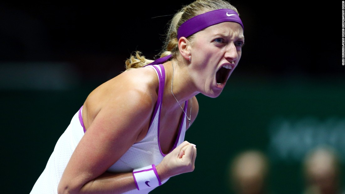 Kvitova bounced back from her opening defeat at the WTA Finals in Singapore by beating fellow Czech Lucie Safarova 7-5 7-5 on Wednesday.