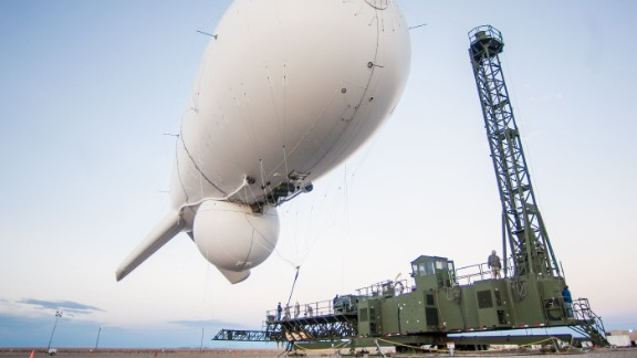 At approximately 12:20 pm EDT today, a Joint Land Attack Cruise Missile Defense Elevated Netted Sensor System (JLENS) surveillance system aerostat detached from its mooring station in Aberdeen Proving Grounds, Maryland, and is currently located approximately northeast of Washington, D.C., over Pennsylvania.  