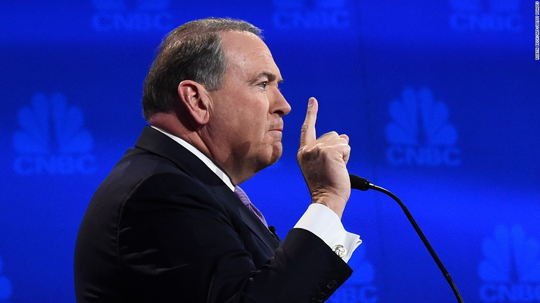 "Mike Huckabee likened the federal government to a NORAD blimp that became untethered earlier in the day. ""If you saw that blimp that got cut loose in Maryland today, it's the perfect example of government."" He said it ran away and then ""got too big"" to ""get rid of."""