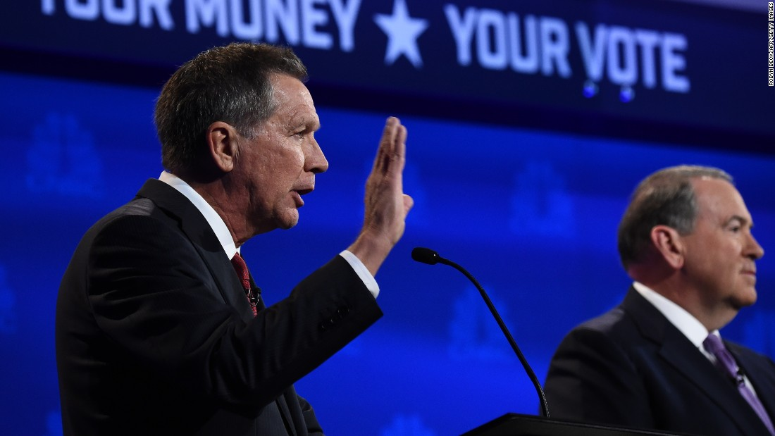 "John Kasich wasted no time in going on the attack. In response to a question to each candidate on what their greatest weakness is, Kasich immediately pivoted to slamming the front-runners, though not by name. ""My great concern is that we are on the verge perhaps of picking someone who cannot do this job,"" he said."