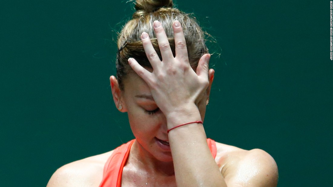 That about sums it up for Simona Halep. She lost to Radwanska on Thursday and was eliminated at the WTA Finals.