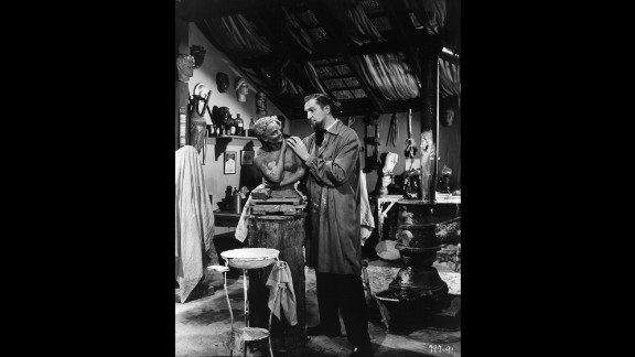 """House of Wax,"" from 1953, was the first color 3-D film from a major studio. It became one of the highest-grossing films of the year. Vincent Price stars as a sculptor who populates his wax museum with corpses."