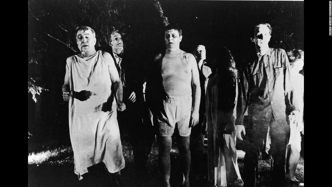 "George Romero's 1968 film ""Night of the Living Dead"" was made for just over $100,000 and grossed more than $30 million worldwide. It also invented the modern zombie movie, with brain-eating undead ghouls threatening the human population."