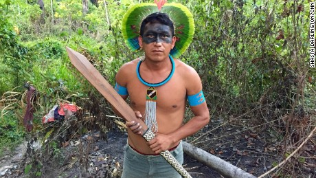 Indigenous tribes in Brazil's Amazon work with the government to protect land from miners and loggers.