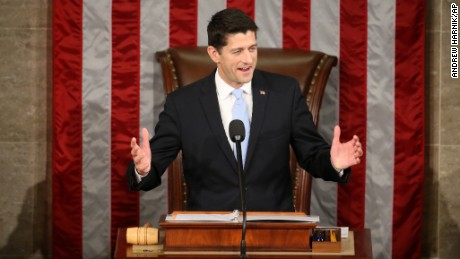 Rep. Paul Ryan, R-Wis. speaks in the House Chamber on Capitol Hill in Washington, Thursday, October 29, 2015. (AP Photo/Andrew Harnik)