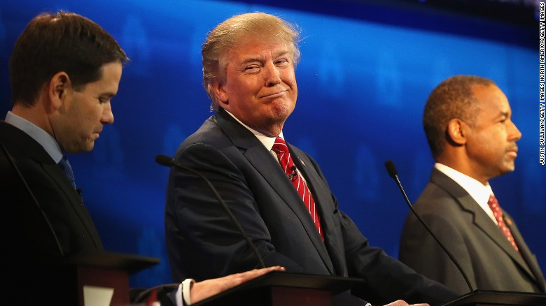 Donald Trump v. Marco Rubio v. Ben Carson in New Hampshire