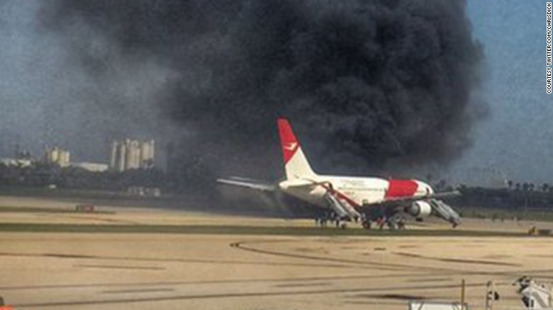 Plane Catches Fire On Runway At Fort Lauderdale Airport Cnn