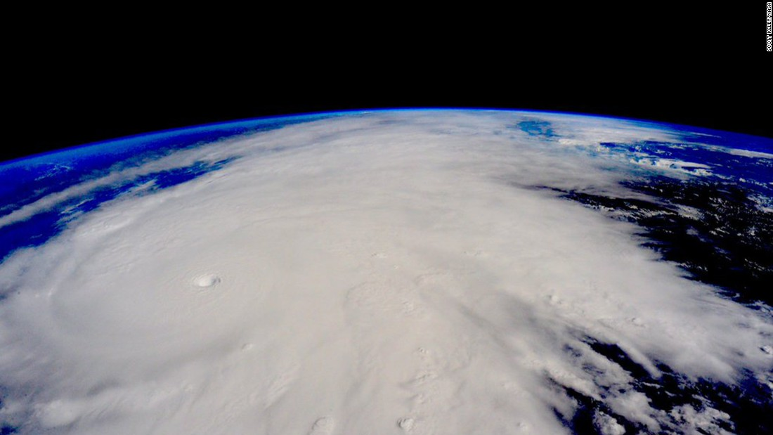 "<a href=""http://www.cnn.com/2015/10/23/weather/gallery/hurricane-patricia/index.html"" target=""_blank"">Hurricane Patricia</a> approaches the Pacific coast of Mexico in this photo that astronaut Scott Kelly tweeted from the International Space Station on Friday, October 23. Patricia was the strongest hurricane ever recorded at sea, with sustained winds of 200 mph."