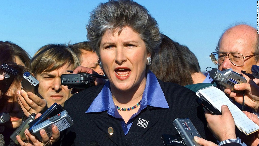 <strong>Then:</strong> Karen Hughes was Bush's spokesman during the 2000 campaign.