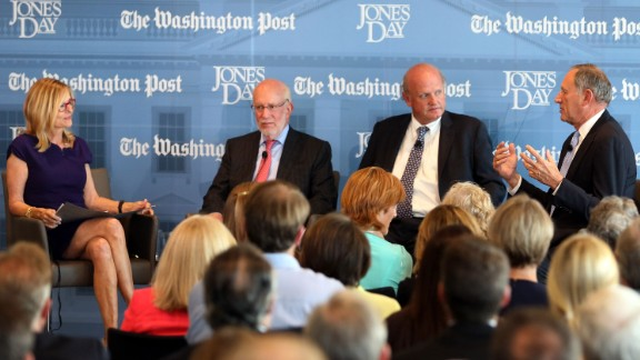 Now: Ginsberg, second from left, served as national counsel in Mitt Romney