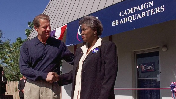 Then: Donna Brazile served as campaign manager Al Gore
