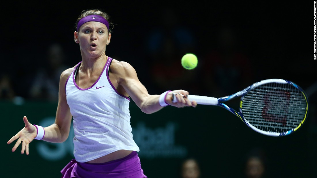 She joined Muguruza in the last four when Lucie Safarova, pictured, topped Angelique Kerber in straight sets, 6-4 6-3.