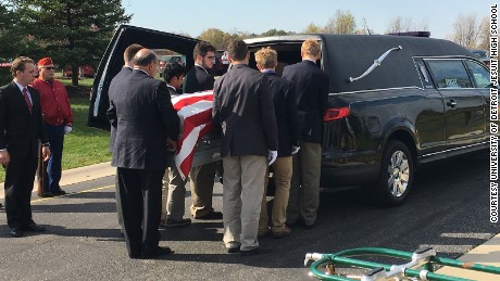 More than 50 students showed up to learn how to serve as pallbearers.