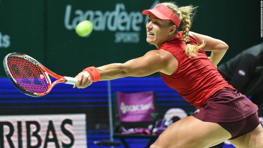 Kerber's week began well when she downed Kvitova but then the German lost to Muguruza and Safarova.