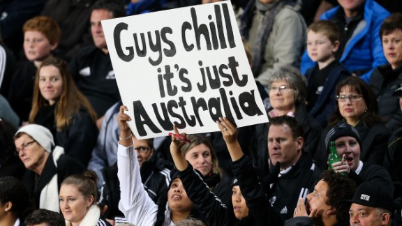 All Blacks fans show their support during August's Bledisloe Cup match against Australia.