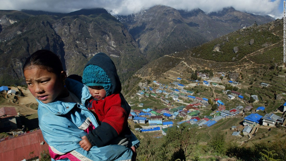 Having lived in the Himalayas for centuries, Sherpas have adapted to easily breathe the thin air.