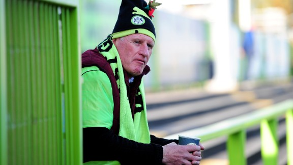 Forest Green used to play in black and white but Vince changed the club