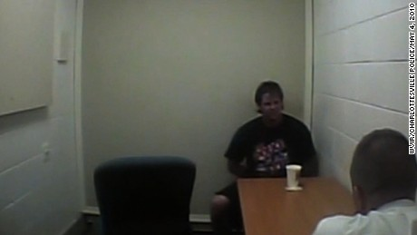 Authorities release video of their interrogation of George Huguely three years after he was convicted of second-degree murder in the 2010 death of Yeardley Love. (Shot May 4, 2010)