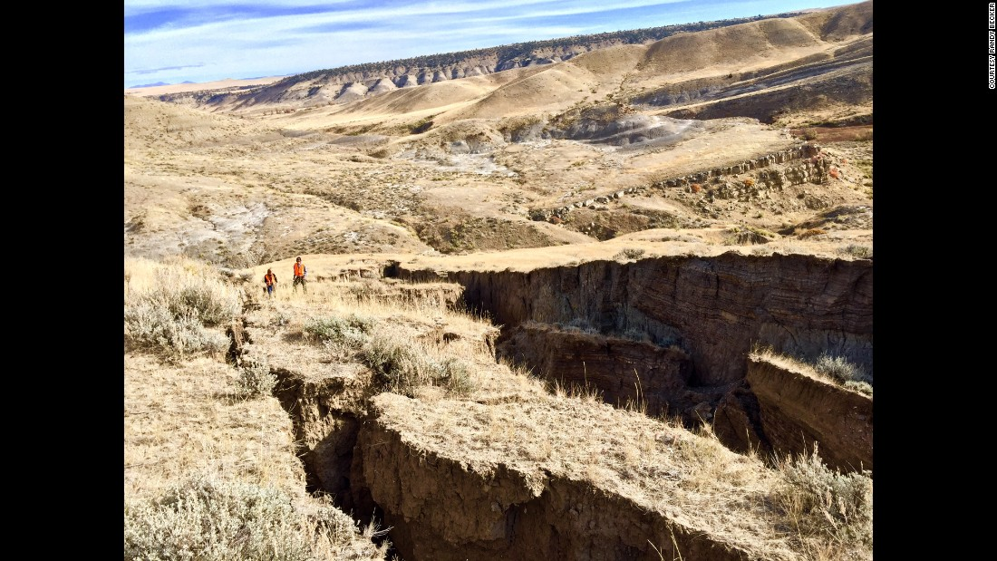 "It's not clear what caused the ecological phenomenon, but an engineer in Wyoming found that a small spring ""caused the bottom to slide out"" and shifted 15 to 20 million yards of earth, according to SNS."