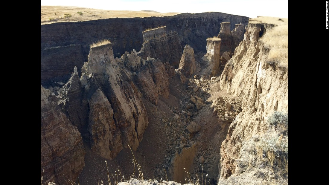 "The Wyoming Geological Survey called it an ""apparent active landslide."" ""It appears that this event may be due to groundwater creating weakness in an unstable hillside,"" the organization said on its Facebook page. <br />"