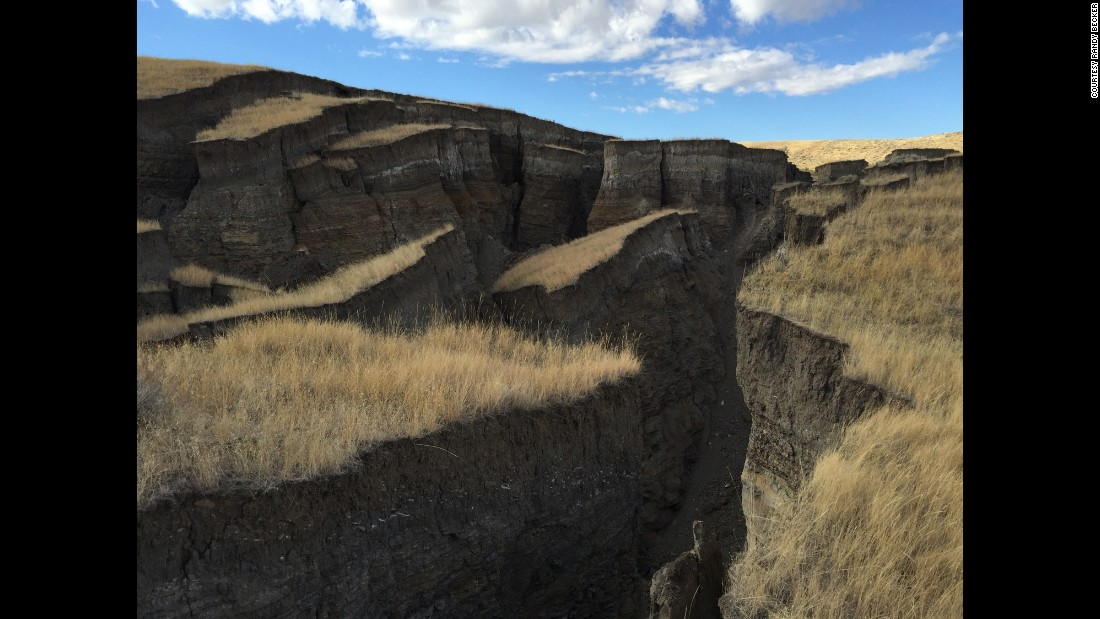 A large 'gash' or 'crack' has opened up on the side of  Wyoming's Bighorn Mountains. SNS Outfitters & Guides first alerted the world about it on October 23.