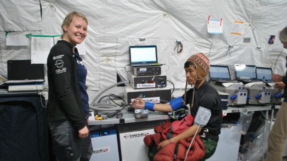 In 2013, the Xtreme Everest research team conducted experiments on Sherpas and other volunteers at high altitudes to discover how Sherpas thrive at such heights.