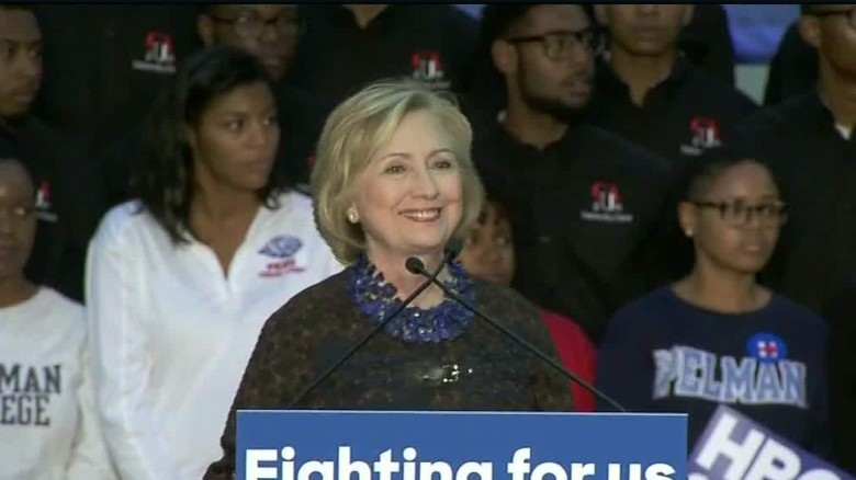 Protesters interrupt Clinton rally