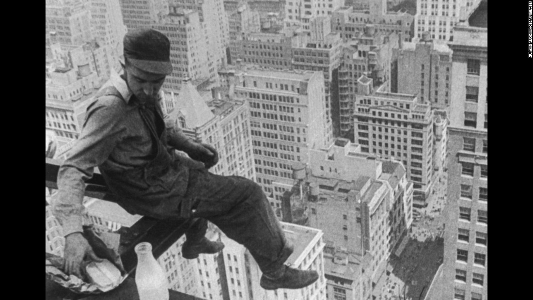 Sandwiches, valued for their portability, have long been stuffing lunch pails and lunchboxes. Here a worker pauses for a sandwich while resting on a girder during the construction of a skycraper in the 1930s.