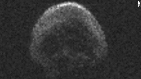 An asteroid resembling a skull will narrowly miss Earth on Halloween, October 31, 2015.