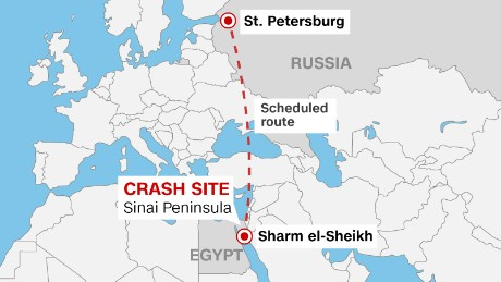 Russian plane crash in sinai a midair break up cnn it suddenly disappeared gumiabroncs Choice Image