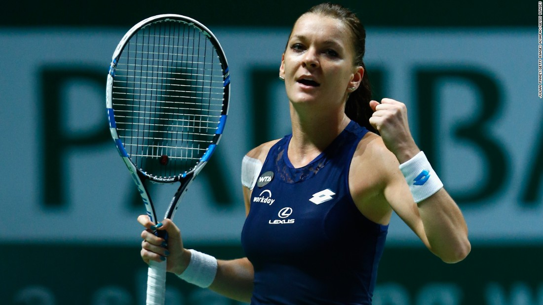 Radwanska ended the hopes of Spain's Garbine Muguruza in the semifinals at the WTA Finals.