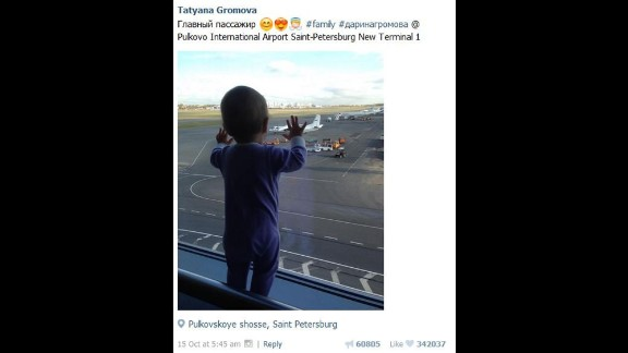 Darina Gromova's mother posted her picture before a family trip to Egypt.