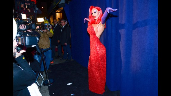 "Jessica Rabbit, is that you? Heidi Klum dressed as the iconic ""Who Framed Roger Rabbit?"" character for her 16th annual Halloween party in New York. Here are some other celebrities' costumes from Halloween 2015."