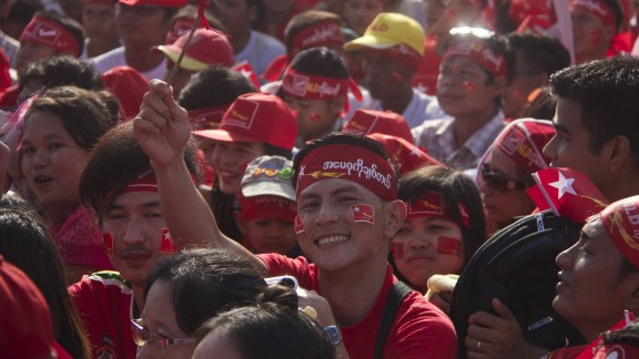 There are more than a dozen political parties in the running, but the NLD's main rival will be the incumbent ruling party, which enjoys the support of the military, which is itself guaranteed to hold at least 25% of the seats in the next parliament.