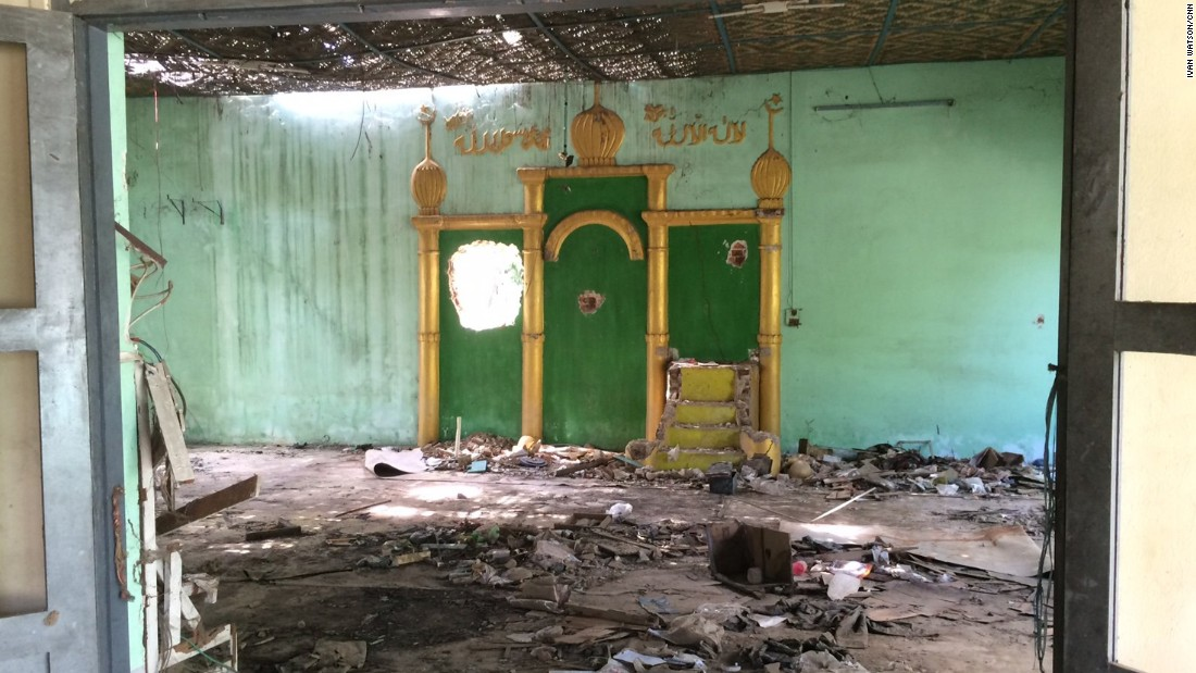 This mosque in Meiktila was torched in the 2013 riots. It is still in ruins.