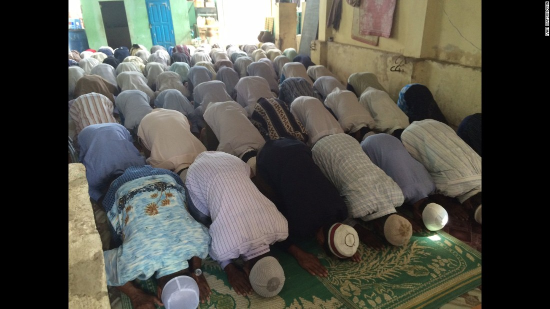 At one of the few mosques still operating in Meiktila, it gets so crowded that people have to pray in shifts at Friday prayers.