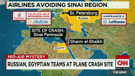 planes avoid egyptian sinai metrojet crash damon lead_00004401