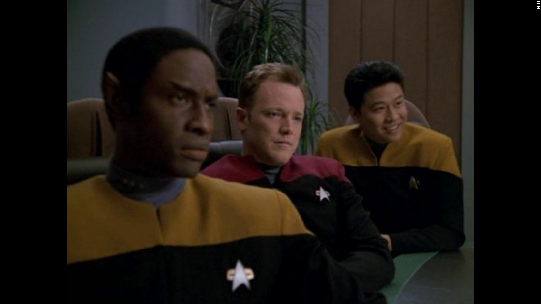 """Star Trek: Voyager"" launched the now-defunct UPN network in 1995, with a smaller ship lost in the far reaches of space. Kate Mulgrew (now starring as Red on ""Orange is the New Black"") portrayed the first onscreen female captain, Kathryn Janeway. The crew included, from left, Tim Russ, Robert Duncan McNeill and Garrett Wang."