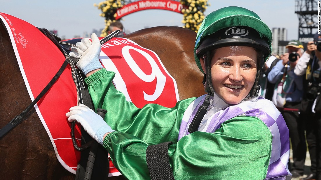 "Australian jockey Michelle Payne became <a href=""http://edition.cnn.com/2015/11/03/sport/michelle-payne-melbourne-cup-get-stuffed/index.html"" target=""_blank"">the first woman to win the Melbourne Cup</a>, riding Prince of Penzance on Tuesday, November 3. Payne said she hopes her win will open doors for female jockeys because she believes ""that we (females) sort of don't get enough of a go."""