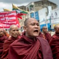 Myanmar Monks Rohingya protest