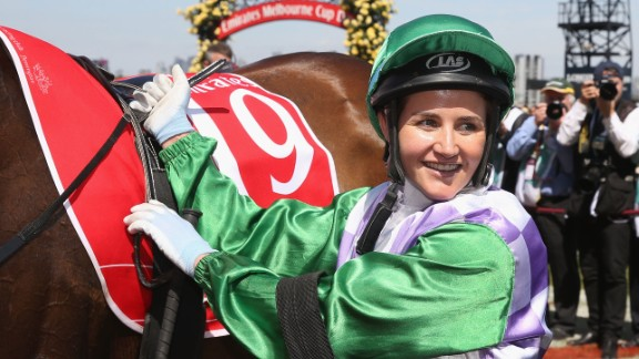 Michelle Payne rocked the world of racing by becoming the first female jockey to win the Melbourne Cup at Flemington Racecourse.