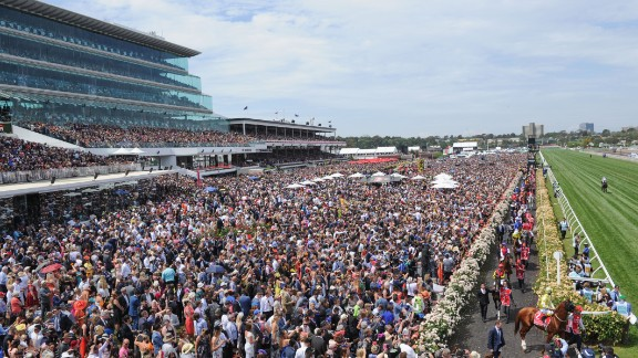 There was a huge crowd at Flemington to witness Payne's landmark win.