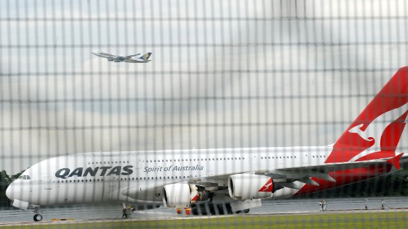 This Qantas Airbus A380 plane made an emergency landing in Singapore after an uncontained engine failure over Indonesia.