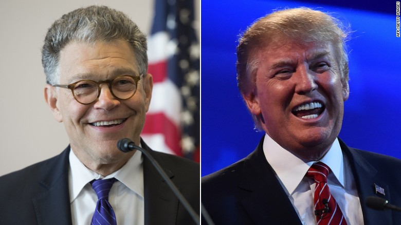 Senator Al Franken talks Trump on SNL