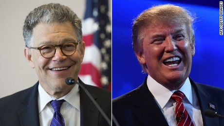 Why did Trump attack Franken but stay quiet on Moore? Simple.