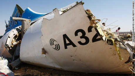 "The wreckage of a A321 Russian airliner in Wadi al-Zolomat, a mountainous area of Egypt's Sinai Peninsula. Russian airline Kogalymavia's flight 9268 crashed en route from Sharm el-Sheikh to Saint Petersburg on October 31, killing all 224 people on board, the vast majority of them Russian tourists. AFP PHOTO / RUSSIA'S EMERGENCY MINISTRY / MAXIM GRIGORYEV *RESTRICTED TO EDITORIAL USE - MANDATORY CREDIT ""AFP PHOTO / RUSSIA'S EMERGENCY MINISTRY / MAXIM GRIGORYEV"" - NO MARKETING NO ADVERTISING CAMPAIGNS - DISTRIBUTED AS A SERVICE TO CLIENTS *MAXIM GRIGORYEV/AFP/Getty Images"