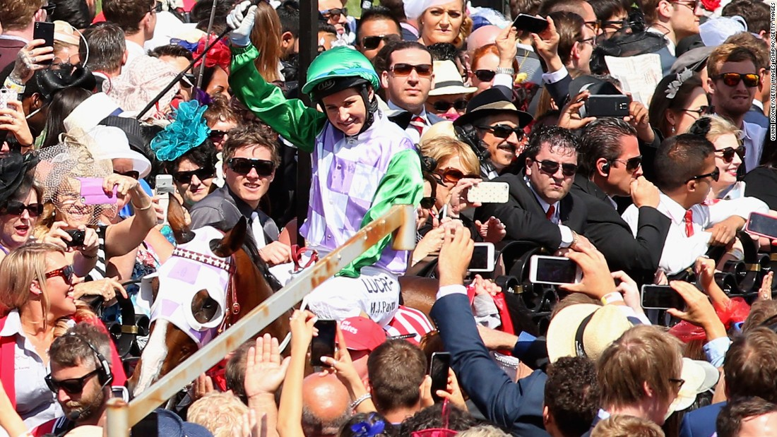 Payne was mobbed by adoring fans after her surprise triumph.