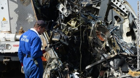 egypt russiaplane crash wreck